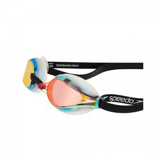 RACING GOGGLES SPEEDO FASTSKIN SPEEDSOCKET 2 MIRROR white/blue