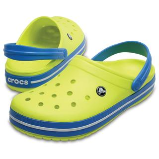 Crocs Σαμπό Crocband Tenis Ball Green/Ocean 11016-73E