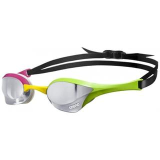RACING GOGGLES ARENA COBRA ULTRA MIRROR silver/green/pink