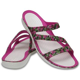 Crocs Γυναικεία Σανδάλια Swiftwater Graphic Sandal pink  fluorescent