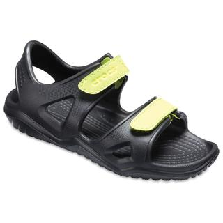 Crocs Παιδικά σανδάλια Swiftwater River Sandal K black/volt green