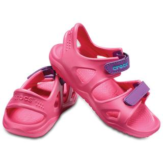Crocs Παιδικά σανδάλια Swiftwater River Sandal K paradise pink/amethyst