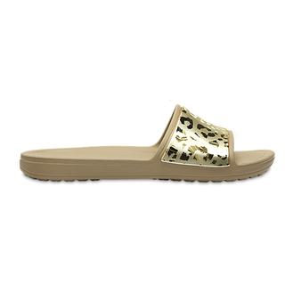 Crocs Γυναικείες Παντόφλες Sloane Graphic Metallic Slide gold/gold