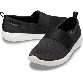 Crocs Women LiteRide Mesh Slip On Black/ White 205727-066