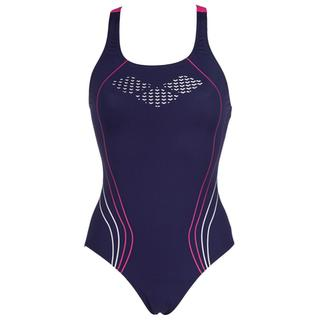 SWIMSUIT ARENA W UNDERSIDE ONE PIECE NAVY/FRESIA ROSE