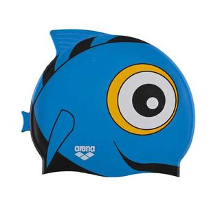 JUNIOR SWIMMING CAP ARENA AWT FISH CAP punk blue